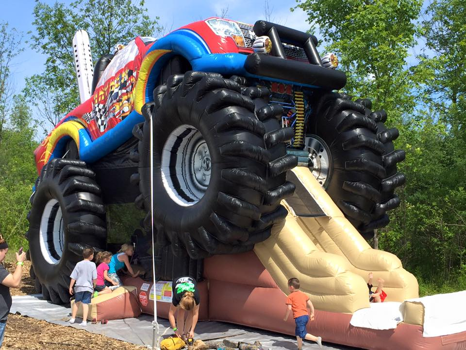 Inflatable Monster Truck Slide